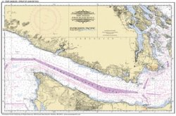 Placemat of Port Angeles and the Strait of Juan de Fuca