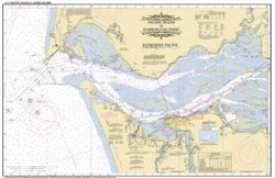 Placemat of the Columbia River from mouth to Crims Island