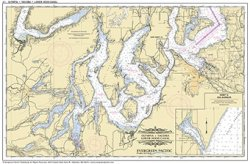 Placemat of Olympia, Tacoma and lower Hood Canal