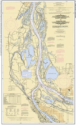 Placemat of the Columbia River from Crims Island to Vancouver
