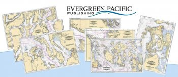 Northwest Nautical Chart Placemat Set