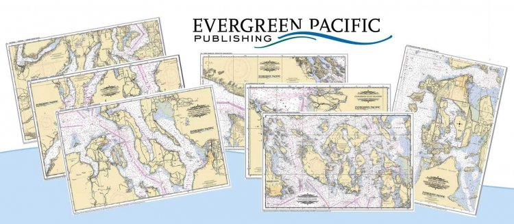 Northwest Nautical Chart Placemat Set - Click Image to Close