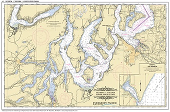 Placemat of Olympia, Tacoma and lower Hood Canal - Click Image to Close