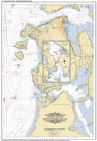 Placemat of Fidalgo Island and North Whidbey