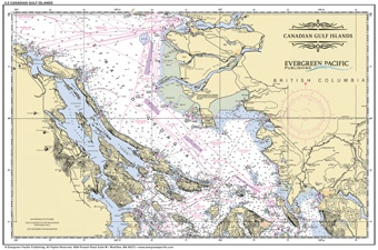 Placemat of Canadian Gulf Islands - Click Image to Close