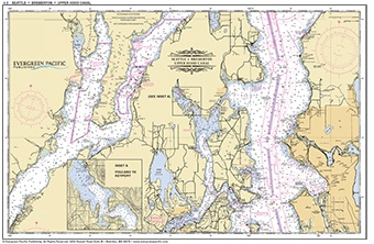 Placemat of Seattle, Bremerton and Hood Canal