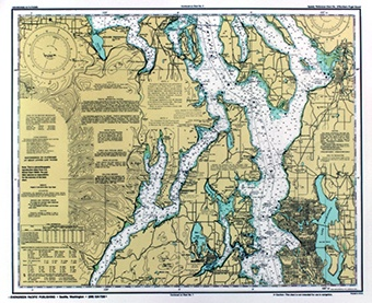 Quick reference nautical chart puget sound 3 1 5 99